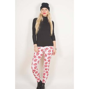 Női leggings The Rolling Stones Classic Tongue Repeat