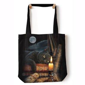Tote taška na rameno Mačka pri sviečke