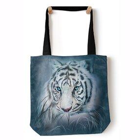 Tote taška na rameno Pohľad bieleho tigra