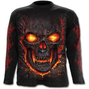 Tričko s dlhým rukávom Skull lava