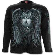 T-Shirt mit langen Ärmeln Wolf mit Flügeln