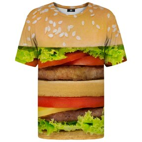 Tričko s krátkym rukávom Detail hamburgera