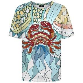 Tričko s krátkym rukávom Znamenie zverokruhu Rak