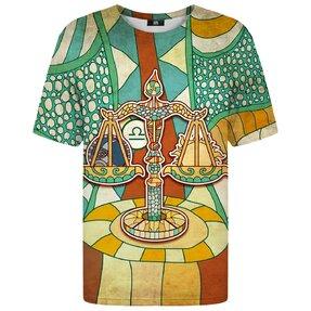 Tričko s krátkym rukávom Znamenie zverokruhu Váhy