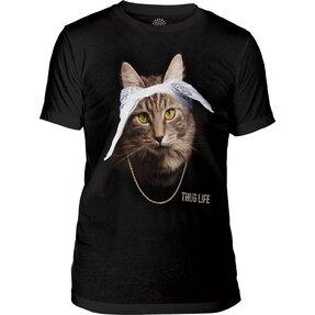 Tri-blend póló Tupac macska