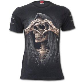 Tričko s dvojitými zipsami Temná láska