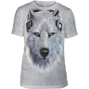 Tri-blend póló Fehér farkas fejhalgatóval