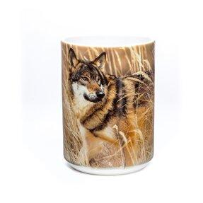 Originelle Tasse mit dem Motiv Wolf auf Jagd