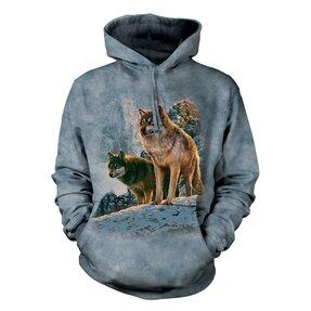 Mikina s kapucí Vlci v horách