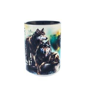 Originální hrníček s motivem Procházka vlků