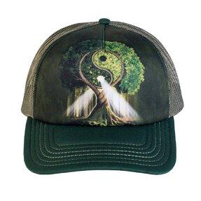 Kappe mit Netz Yin Yang Baum