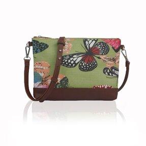 Zelená kabelka Motýle