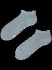 Socquettes grises en fibres de bambou