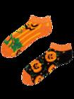 Vrolijke enkelsokken Halloween pompoen