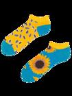 Lustige Knöchelsocken Sonnenblume