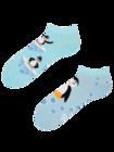Wesołe skarpetki do kostki Szczęśliwy pingwin