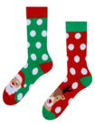 Vidám meleg zokni Télapó és Rudolf