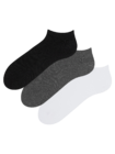 Pachet de 3 Perechi de Șosete sub Gleznă din Bumbac Reciclat Clasic