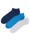 Recycled Cotton Ankle Socks 3-pack Visionary