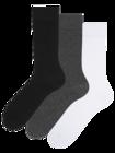 3-pack sokken van gerecycled katoen Klassieker