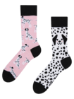 Recycled Cotton Socks Pink Dalmatians