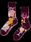 Vrolijke sokken Rode wijn
