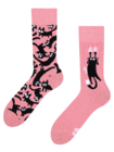 Regular Socks Pink Cats