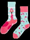 Vrolijke sokken - Maffe flamingo