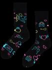 Chaussettes rigolotes Amour du néon
