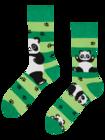 Veselé ponožky Pandy a pásky