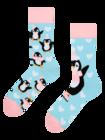 Vrolijke sokken Schaatsende pinguïn