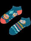 Živahne kratke nogavice Modra sova