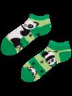 Živahne kratke nogavice Panda in črte