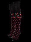 Calcetines  alegres por encima de la rodilla Cereza