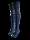 Chaussettes rigolotes hautes au-dessus des genoux Flocons de neige