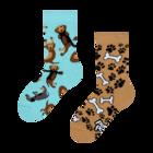 Chaussettes rigolotes pour enfants Teckel