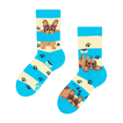 Kids' Socks Dogs & Stripes