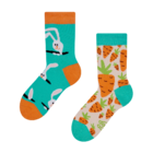 Chaussettes rigolotes pour enfants Lapin et carotte