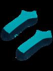 Tyrkysové kotníkové ponožky Stopa