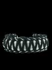 Brățara paracord negru-alb Zebra