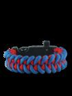 Niebiesko-czerwona bransoletka Paracord z krzesiwem, kompasem i gwizdkiem Shark