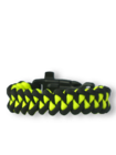 Гривна от паракорд Shark в черно и жълто, със запалка, компас и свирка