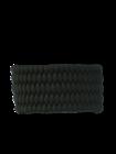 Fekete paracord karkötő Shield tűzkővel és síppal