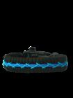 Schwarzes und blaues Paracord-Armband Track mit Anzünder, Kompass und Pfeife