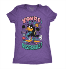 Dames-T-shirt Looney Tunes™ - Despicable Daffy
