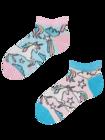 Veselé dětské kotníkové ponožky Duhový jednorožec