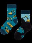 Vesele dječje čarape Bager