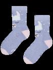 Vidám meleg gyerek zokni Láma