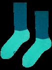 Modro-tyrkysové ponožky Rovnováha