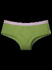 Olivovo zelené dámske nohavičky hipster